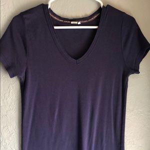 Short sleeve Anthro T-shirt.  Good, long length.